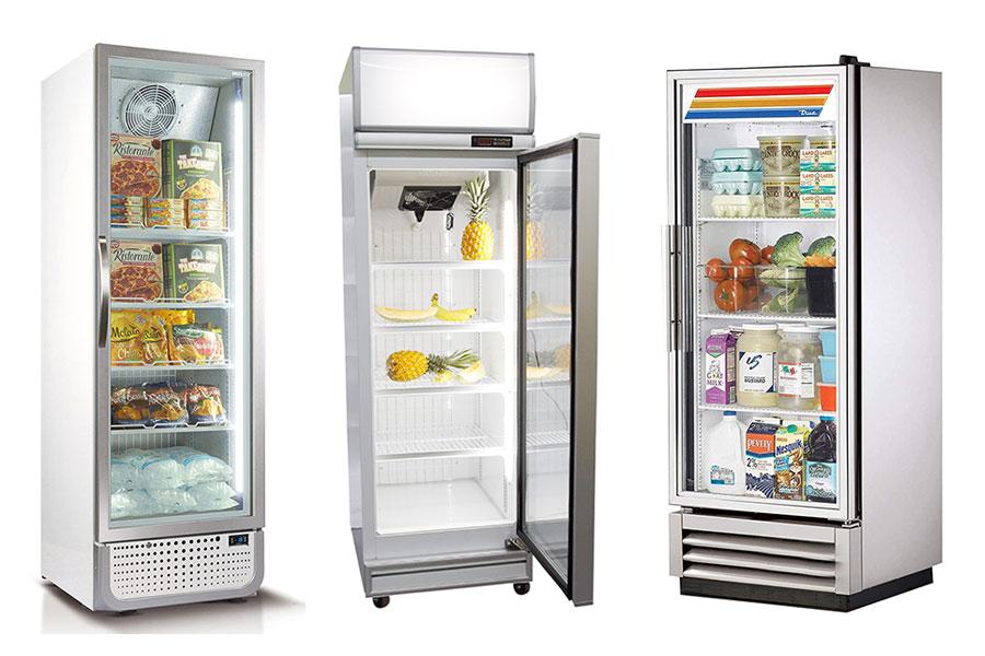 یخچال تک درب فروشگاهی
